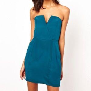 NWOT Naven Teal Silk Dress